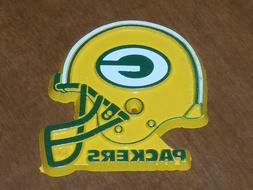 GREEN BAY PACKERS Vintage Old NFL RUBBER Football FRIDGE MAG
