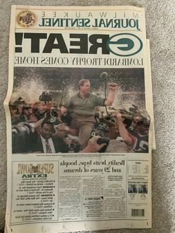 Green Bay Packers Vintage Super Bowl Newspaper January 27, 1