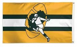 Green Bay Packers WC RETRO Logo Premium 3x5 Flag Outdoor Hou