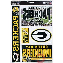 "Green Bay Packers Window Clings Decal 5 Logo on 11""x17"" Auto"