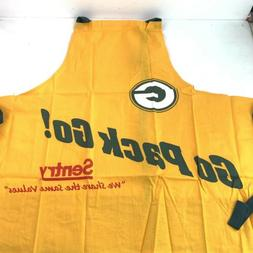Green Bay Packers Yellow Apron  Promotional Go Pack Go Sentr