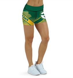 Green Bay Packers Yoga Shorts Small-XXL  Football High Waist