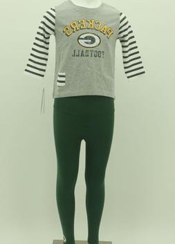 Green Bay Packers Youth Girls Size 2 Piece Shirt and legging