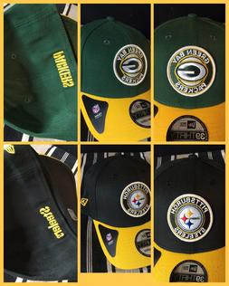 j NFL New Era Patch Cap Pitts Steelers Green Bat Packers Fit