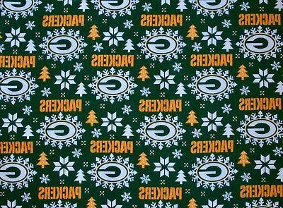 2~GREEN BAY PACKERS HOLIDAY FLANNEL STANDARD PILLOW CASES/ B