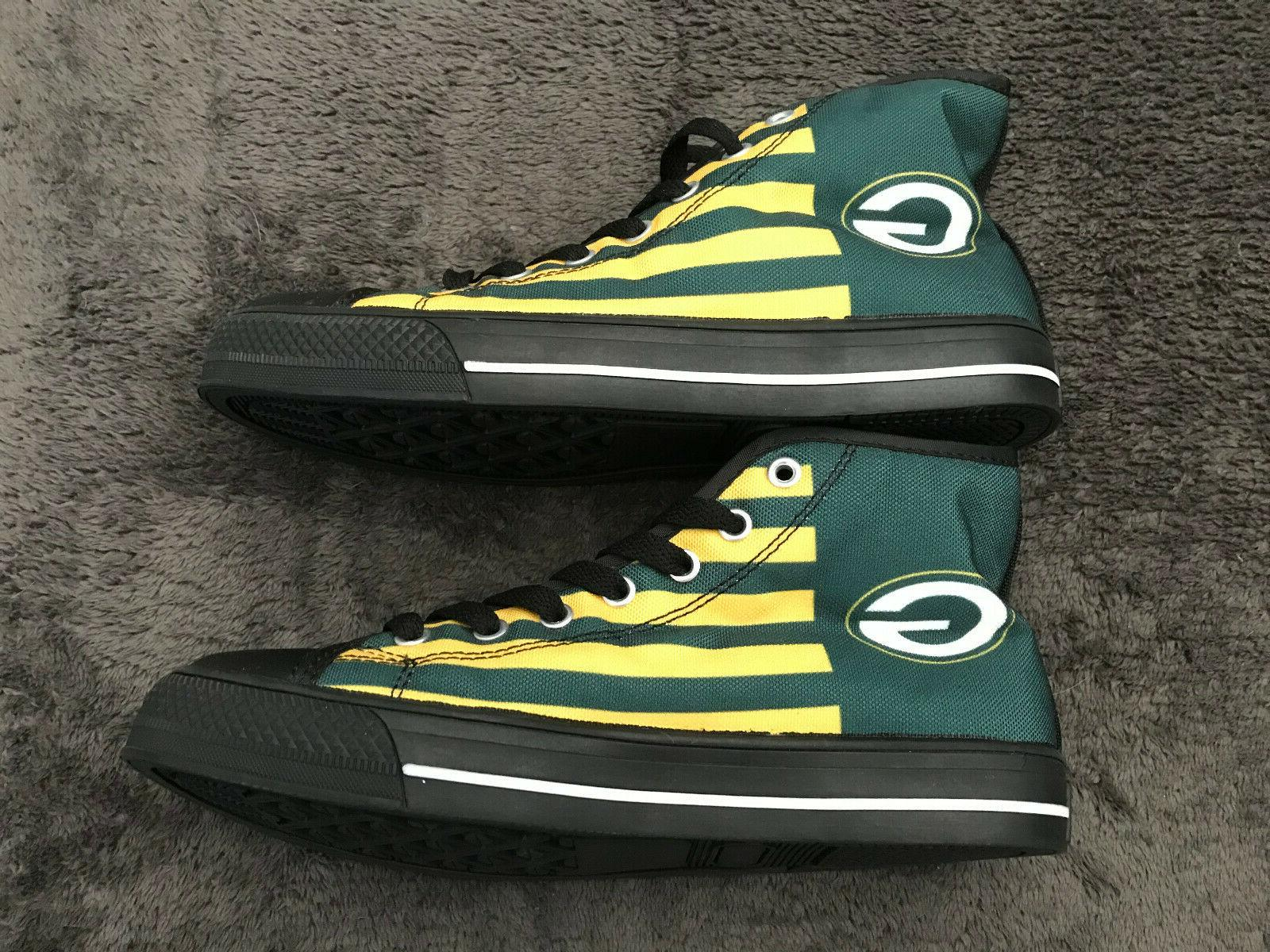 Green Bay Packers Shoes Sneaker Classic High Top