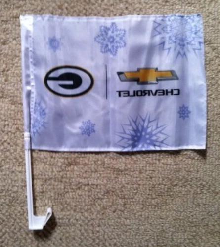 CHEVY GREEN PACKERS Car Flag SGA NEW
