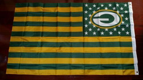 green bay packers 3x5 american flag us