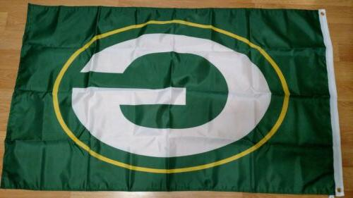 green bay packers 3x5 flag free shipping