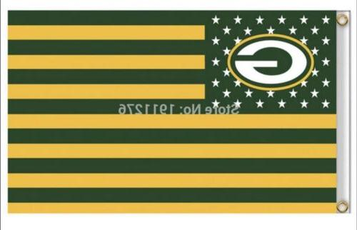green bay packers 3x5 ft american flag