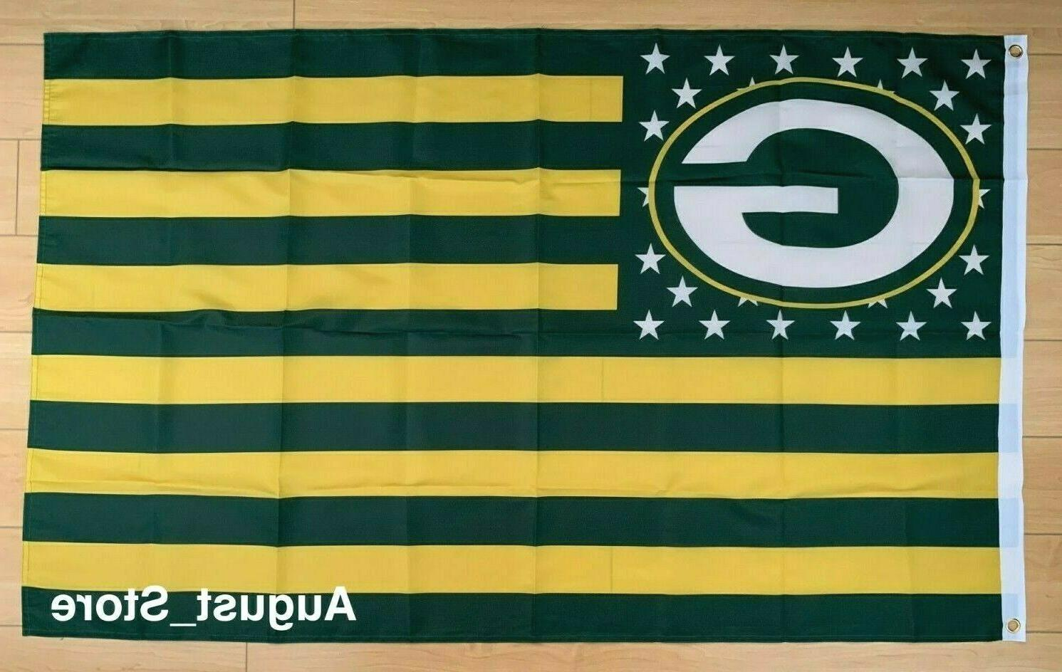 green bay packers 3x5 ft flag banner