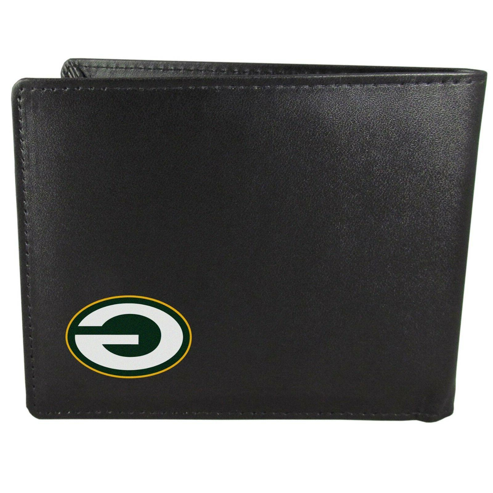 green bay packers bi fold mens wallet