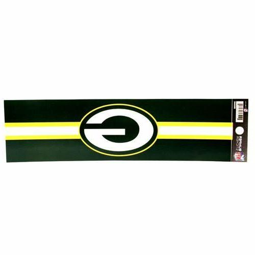 green bay packers bumper sticker 11 x