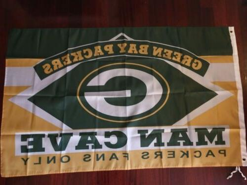 green bay packers cave 3x5 flag us
