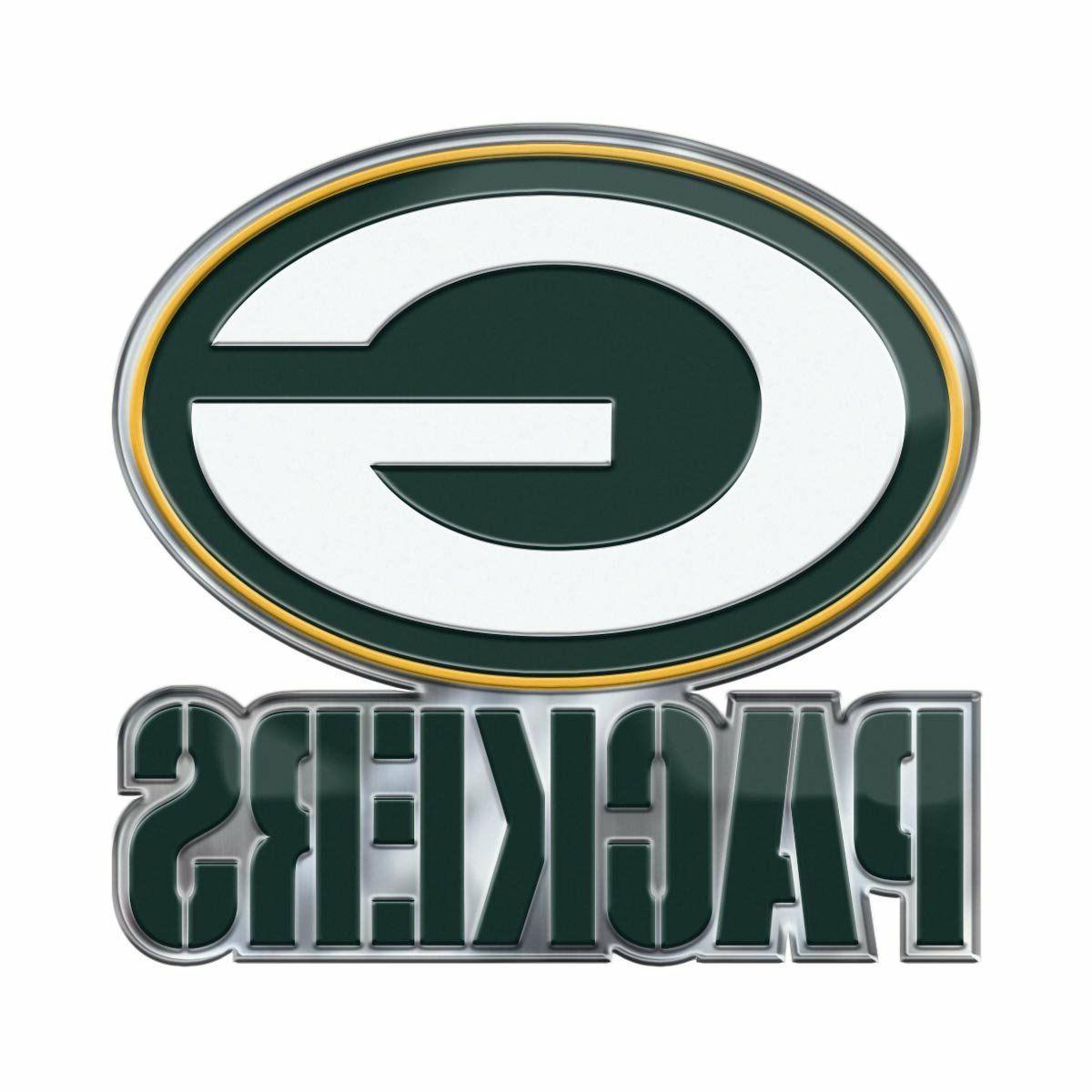 green bay packers color emblem sticker decal