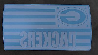 green bay packers flag car decal