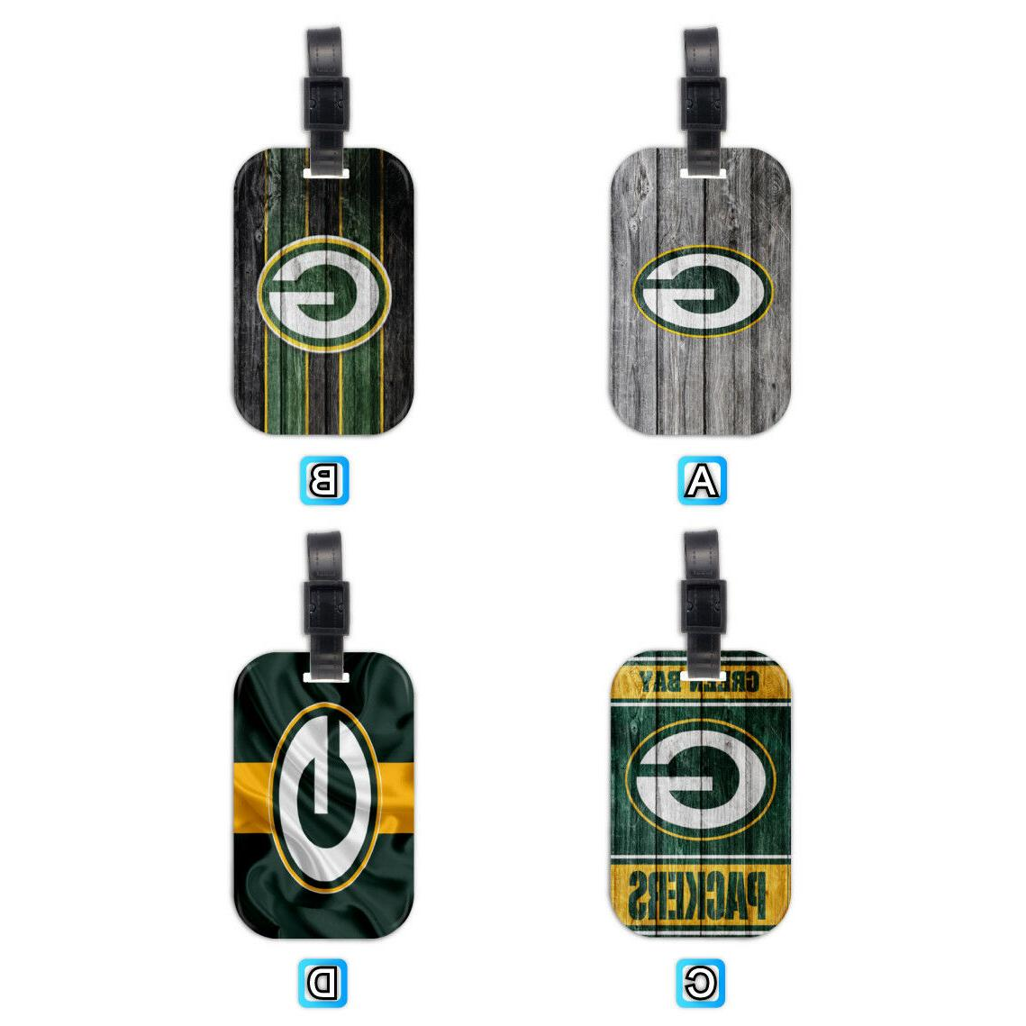 green bay packers football wood travel luggage