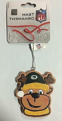 Green Bay Packers Gingerbread REINDEER Christmas Tree Holida