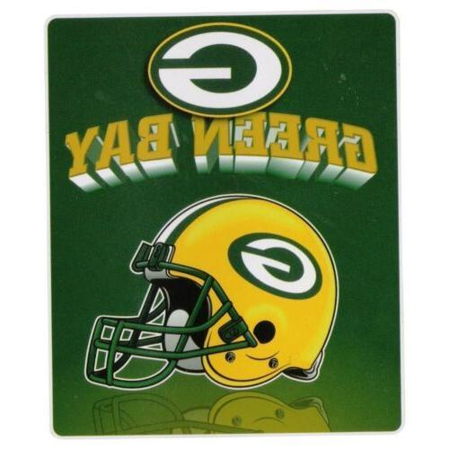 Green Large 50x60 Throw Blanket Football