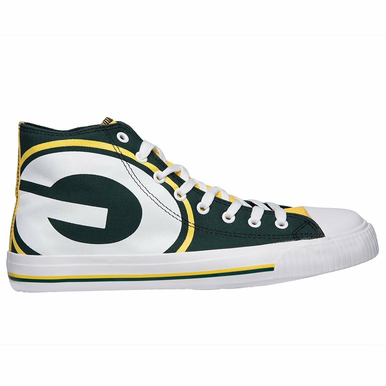 Green Bay Top Logo Canvas Shoes