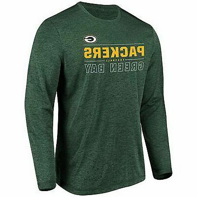 green bay packers long sleeve top heather