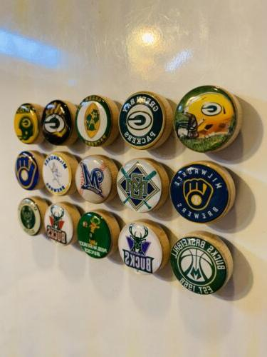 Green Milwaukee Bucks Magnets