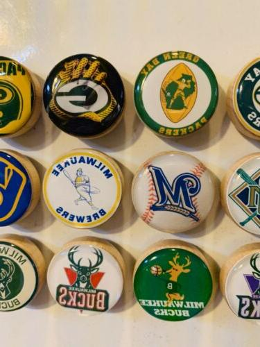 Green Milwaukee Brewers Magnets, Milwaukee Bucks