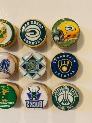 Green Packers Magnets, Milwaukee Bucks