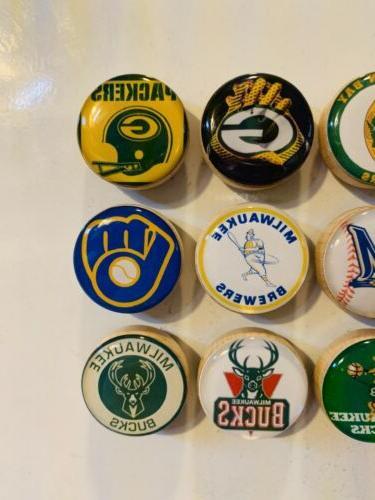 Green Packers Magnets, Milwaukee Bucks Magnets
