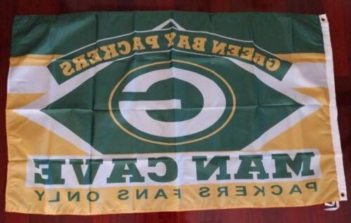 green bay packers man cave 3x5 flag