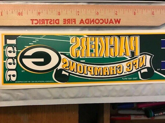 GREEN BAY NFC CHAMPIONS 2 different stickers