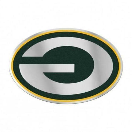 green bay packers mirrored auto badge car