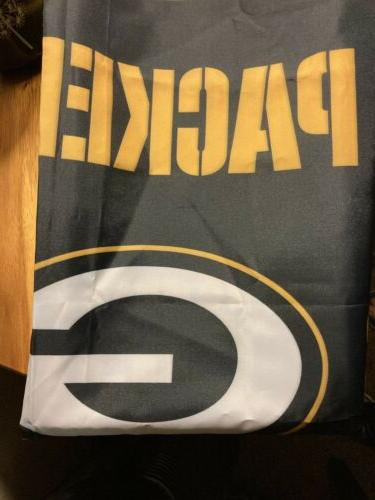 green bay packers nfl fabric shower curtain