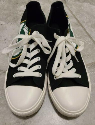 Green Bay Low Top Canvas Shoes Men 10