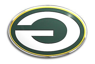 green bay packers premium raised metal color