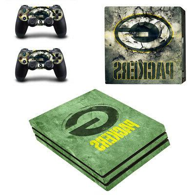 Green Bay Packers PS4 Pro Skin Sticker Decal Vinyl Console+2