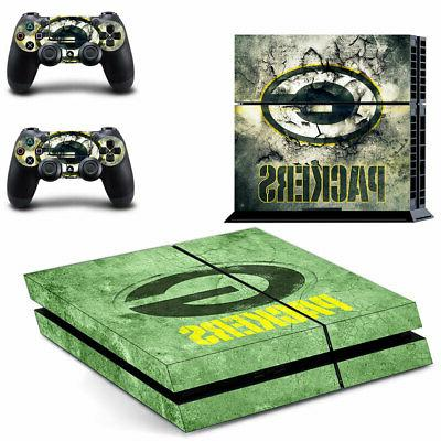 Green Bay Packers PS4 Skin Sticker Decal Vinyl Console+2 con