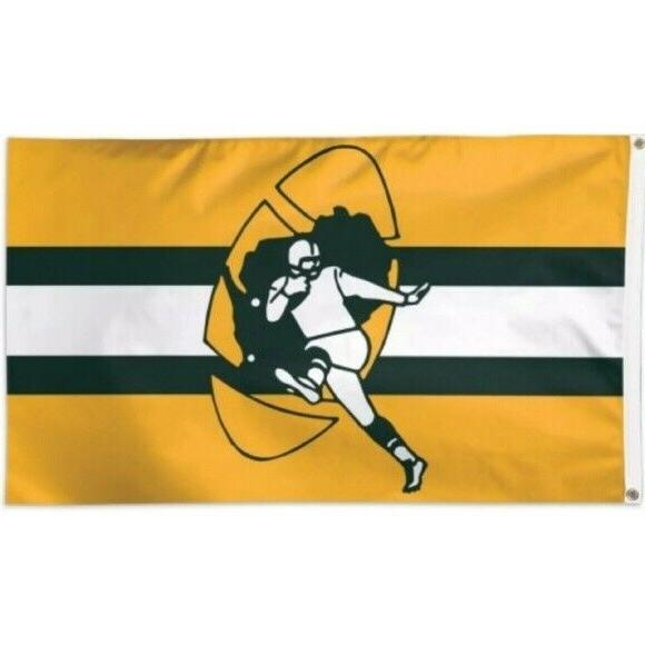 green bay packers retro flag banner 3x5