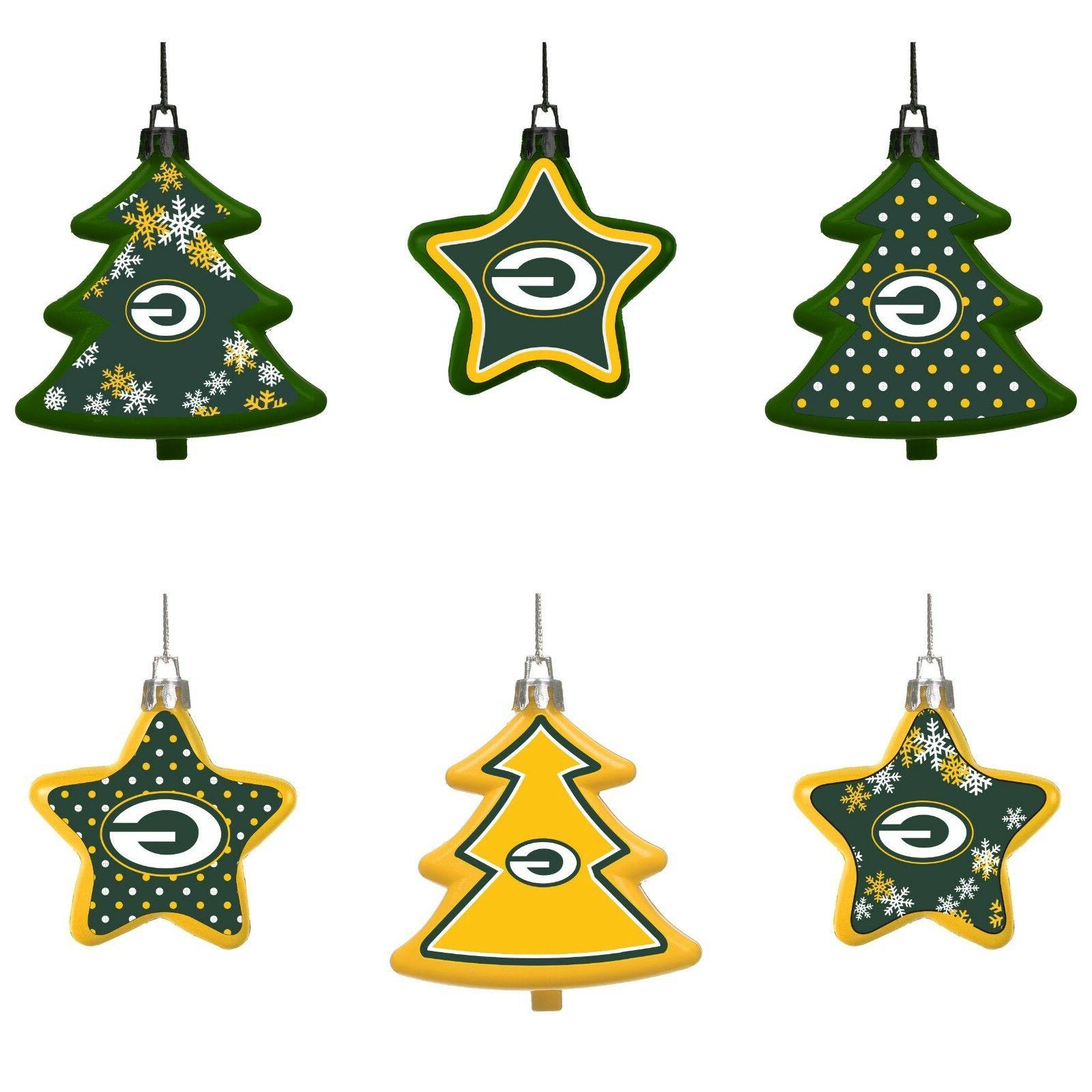 green bay packers shatterproof trees and stars