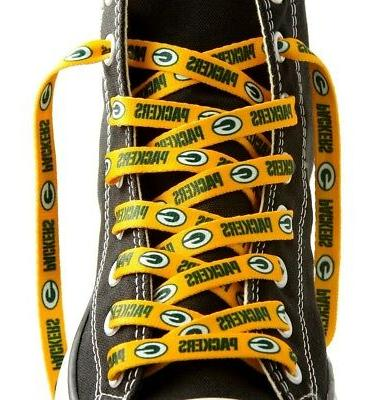 green bay packers shoelaces gold