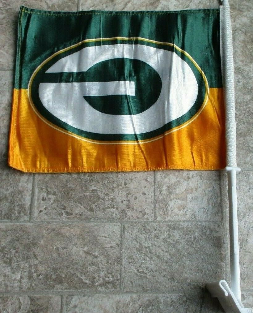 green bay packers two sided car flag
