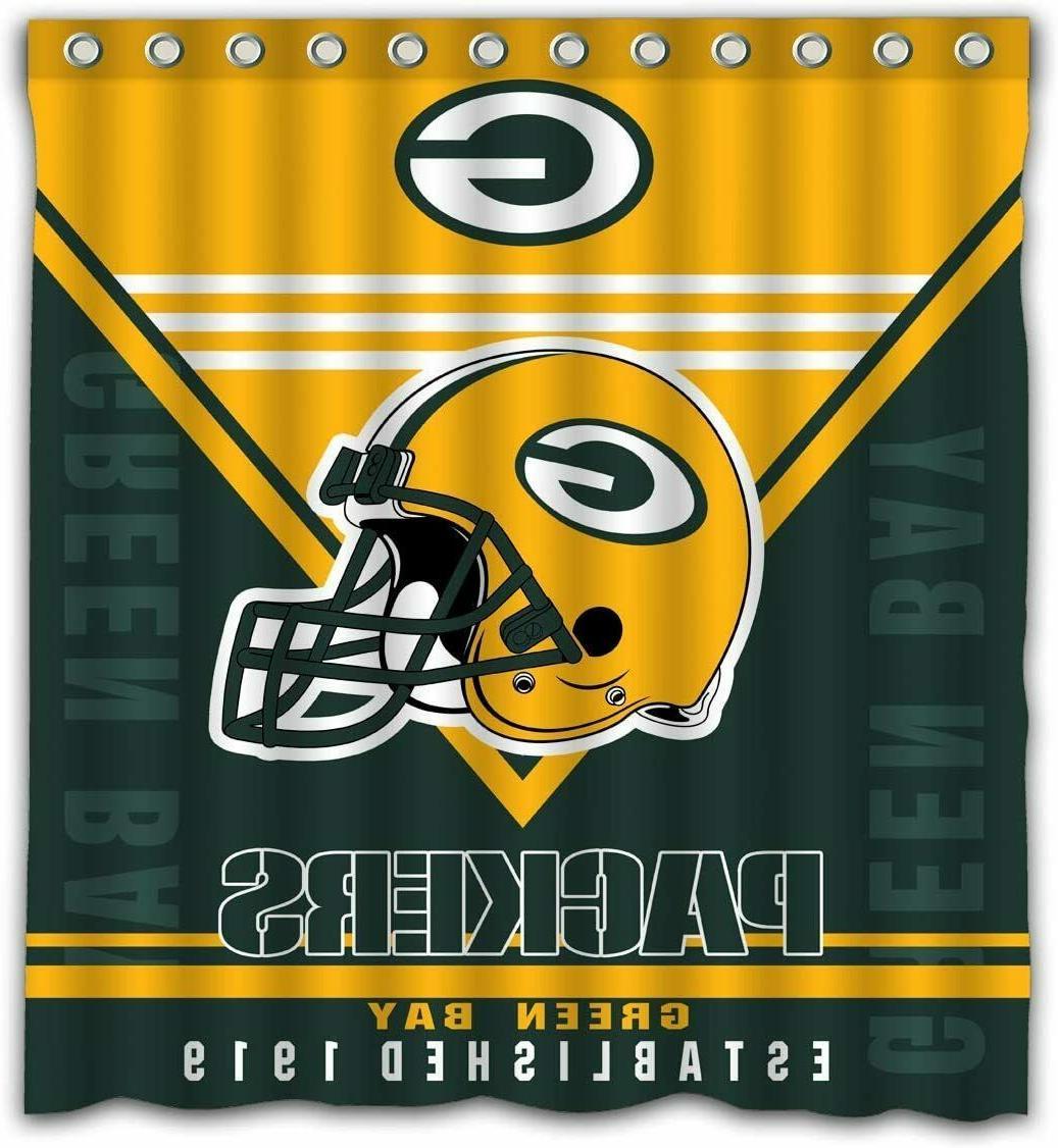 Green Packers Mildew Resist Curtain Set