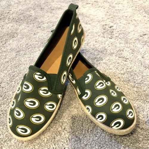 green bay packers women s espadrille shoes