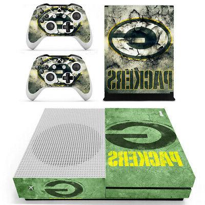 Green Bay Packers XBOX ONE S Skin Sticker Decal Vinyl Consol