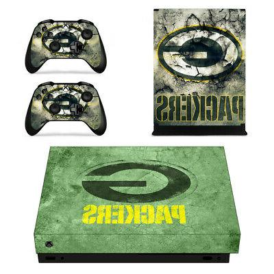Green Bay Packers XBOX ONE X Skin Sticker Decal Vinyl Consol