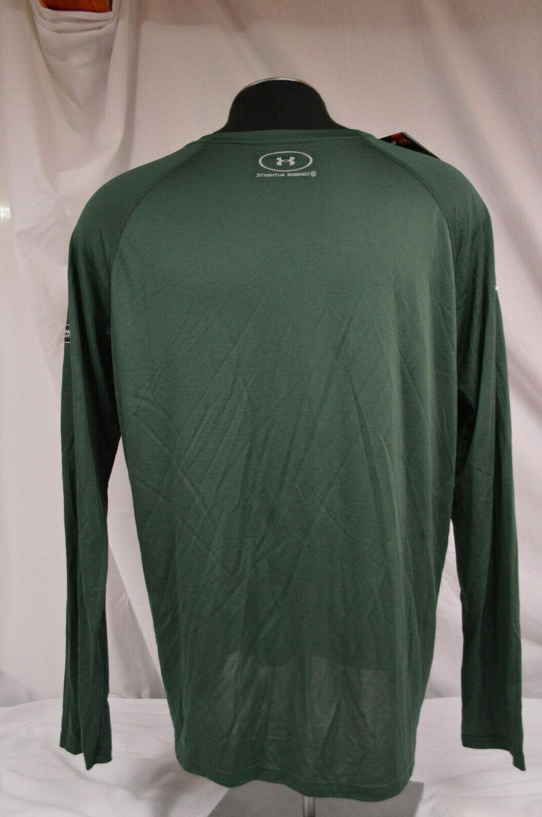 NEW UNDER GREEN PACKERS Authentic L/S T-Shirt ~ SIZE