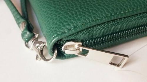 NEW PACKERS Zip Wristlet Organizer Pebble, Green