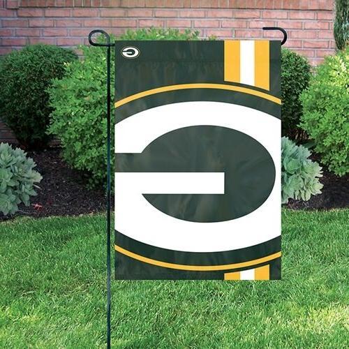 nfl bold logo garden flag green bay