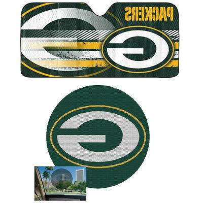 nfl green bay packers car truck windshield