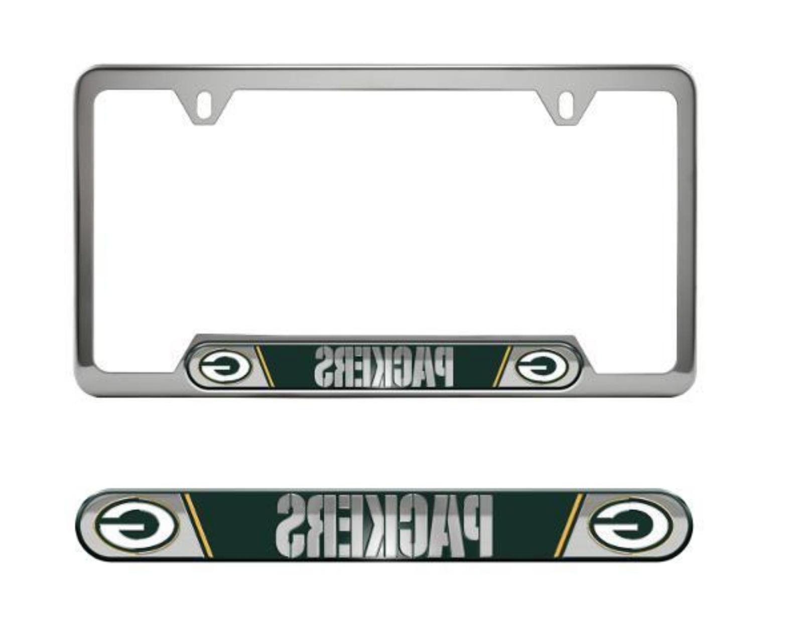 nfl green bay packers license plate frame